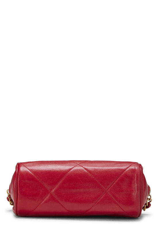 Red Quilted Lambskin Barrel Mini, , large image number 4