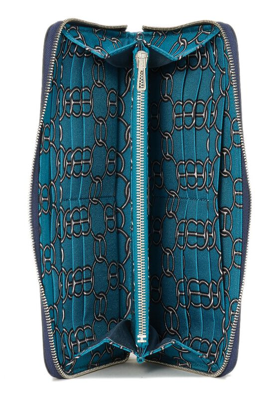 Blue Saphir Silk-In Epsom Azap Continental Wallet, , large image number 3