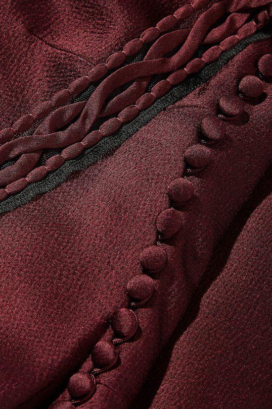 Purple Drop Chest Satin Dress, , large image number 1