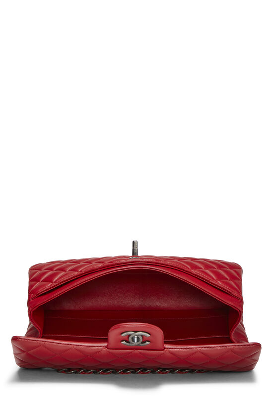 Red Quilted Lambskin Classic Double Flap Medium, , large image number 5
