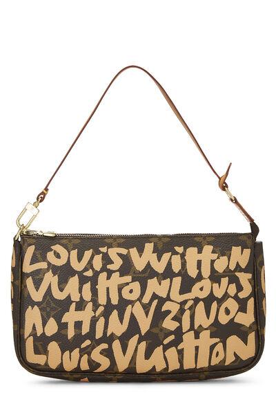 Stephen Sprouse x Louis Vuitton Beige Graffiti Pochette Accessoires