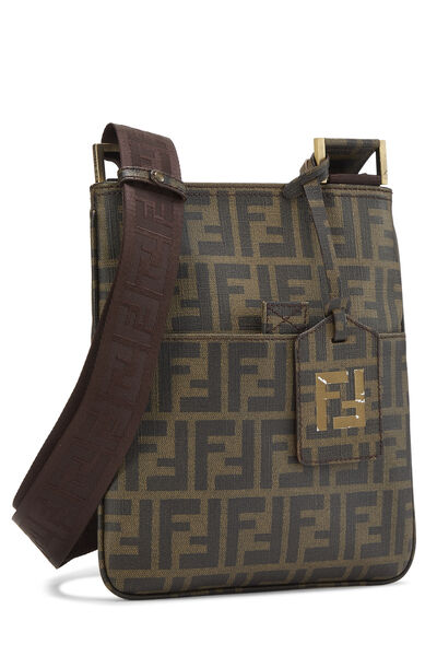Brown Zucca Coated Canvas Messenger, , large