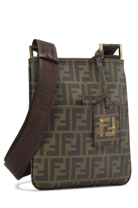 Brown Zucca Coated Canvas Messenger, , large image number 1
