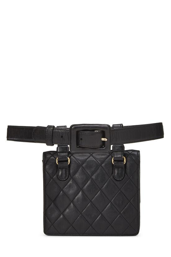 Black Quilted Lambskin Belt Bag 70, , large image number 3