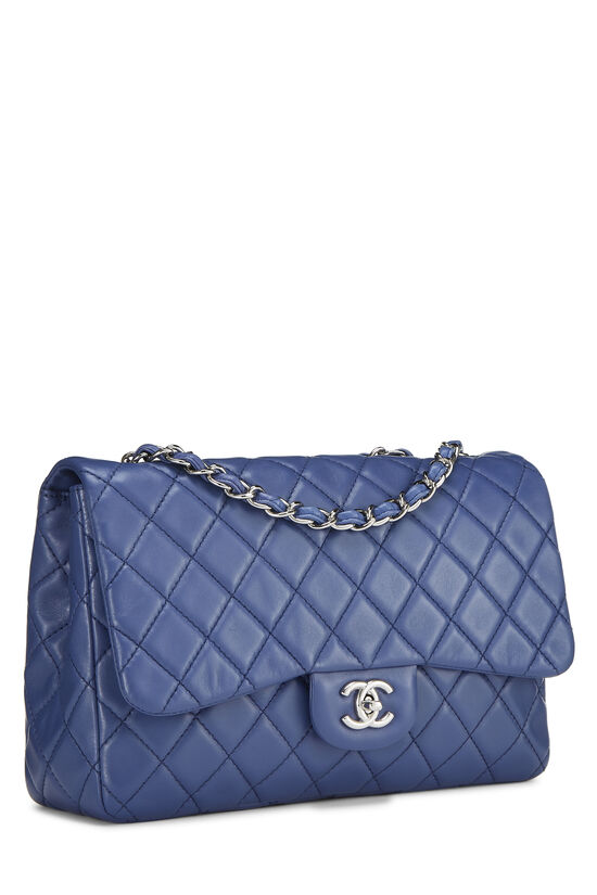 Blue Quilted Lambskin Classic Flap Jumbo, , large image number 1