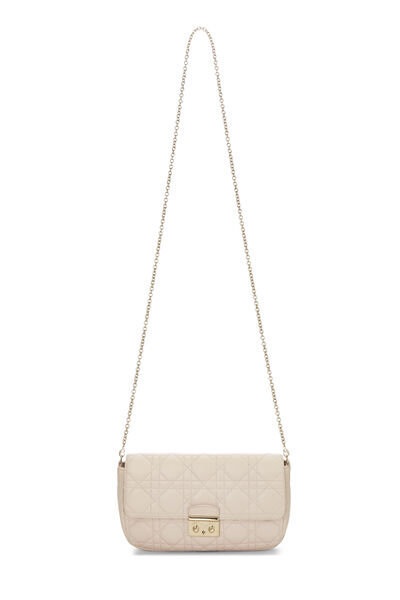 Pink Cannage Leather Miss Dior Promenade Clutch, , large