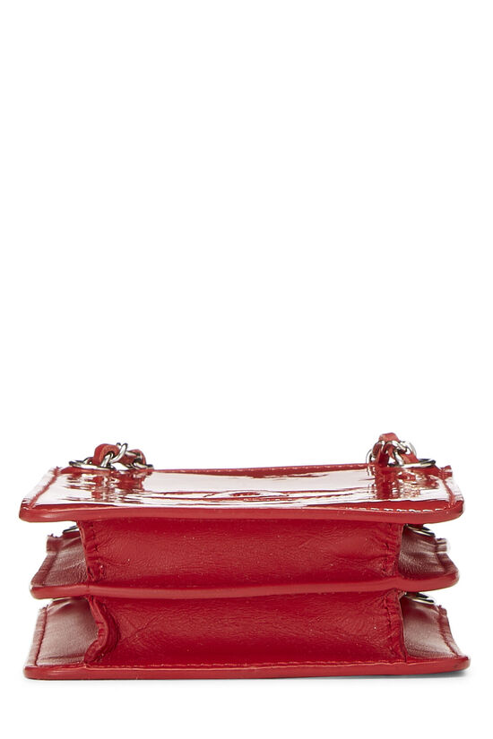 Red Patent Leather 'CC' Phone Holder, , large image number 5