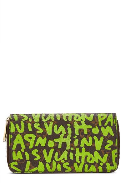 Stephen Sprouse x Louis Vuitton Monogram Green Graffiti Zippy Continental