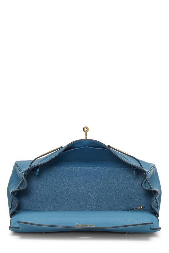 Turquoise Blue Togo Kelly Retourne 32, , large image number 5