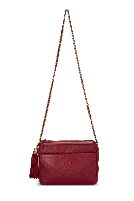 Red Lambskin Pocket Camera Bag Medium, , large image number 6