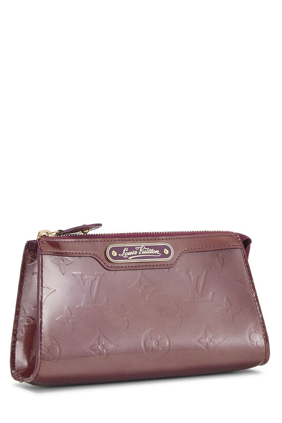 Purple Monogram Vernis Trousse Cosmetic Pouch, , large image number 1