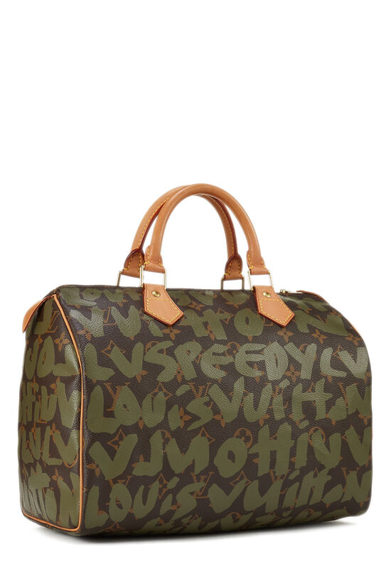 Stephen Sprouse x Louis Vuitton Monogram Green Graffiti Speedy 30, , large image number 1