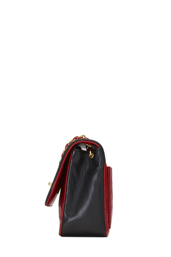 Red & Black Quilted Lambskin Curved Flap Small, , large image number 2
