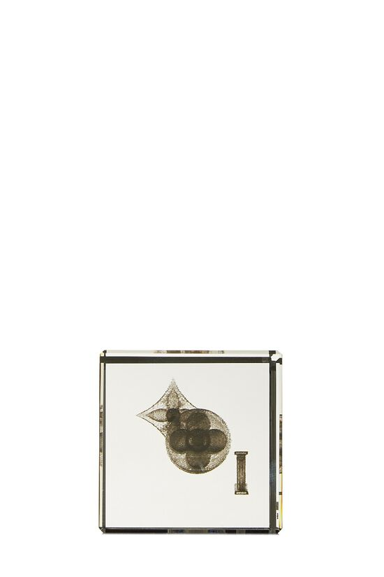 Clear Glass Monogram Paperweight, , large image number 2