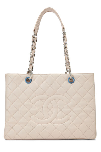 Pink Quilted Caviar Grand Shopping Tote (GST)