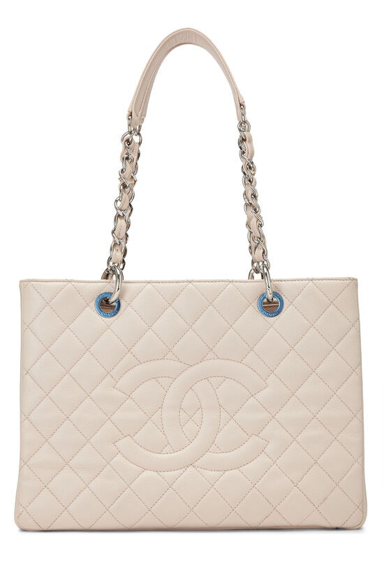 Pink Quilted Caviar Grand Shopping Tote (GST), , large image number 0