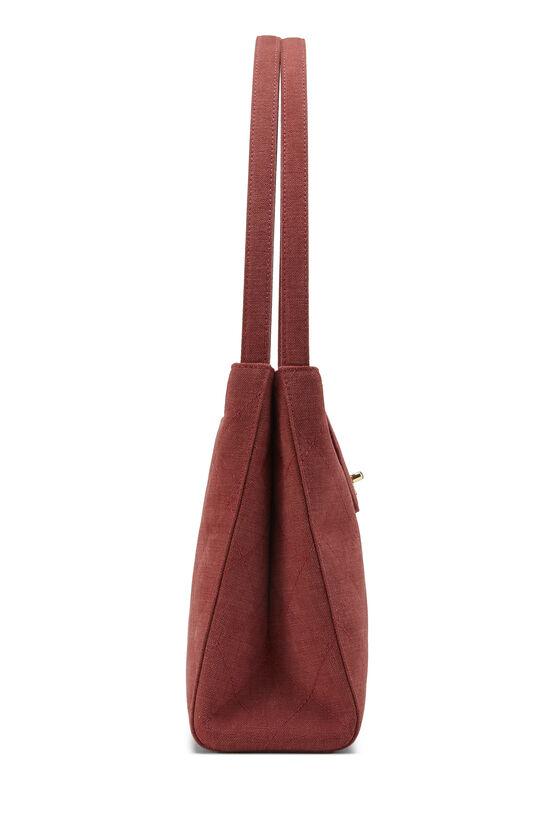 Red Quilted Canvas Shoulder Bag Large, , large image number 2