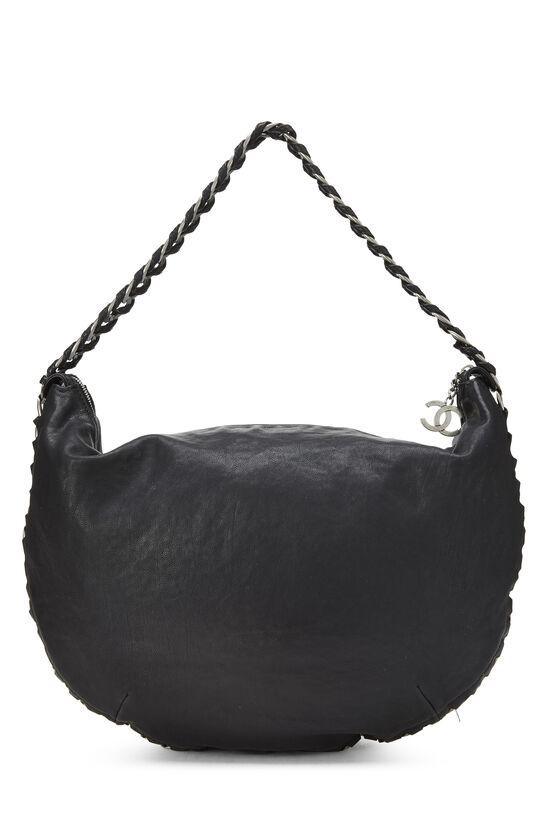 Black Calfskin Chain Hobo, , large image number 3