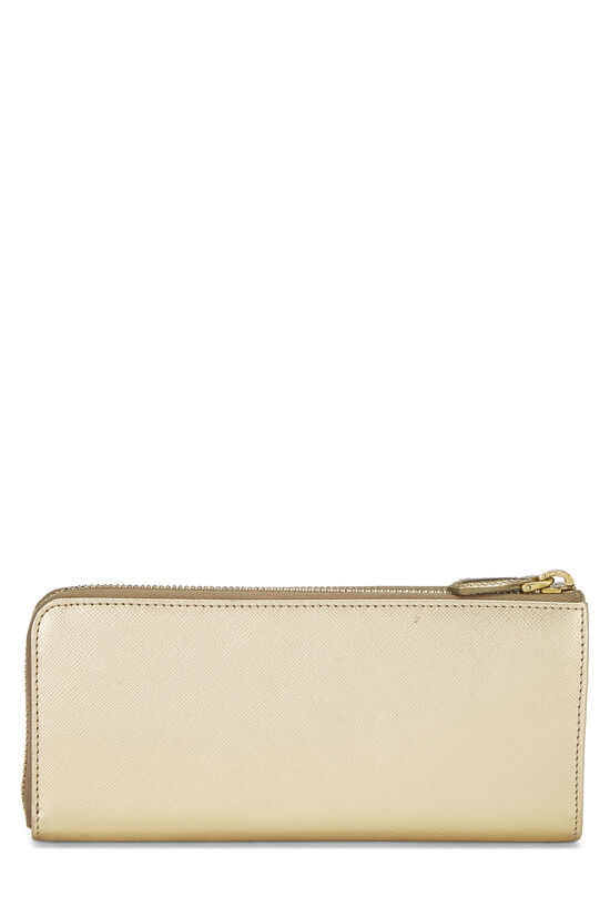 Gold Saffiano Zip Around Wallet, , large image number 2
