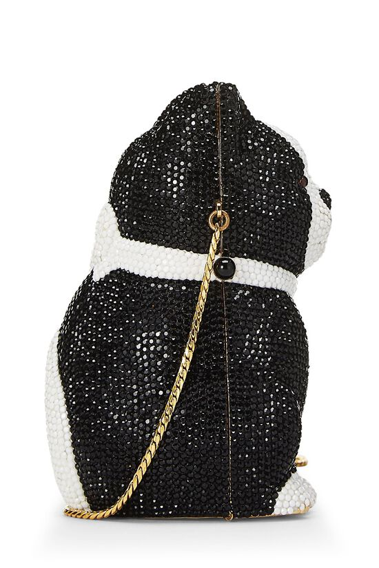 Black & White Swarovski Crystal Cat Minaudière, , large image number 2