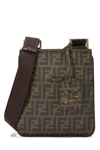 Brown Zucca Coated Canvas Messenger