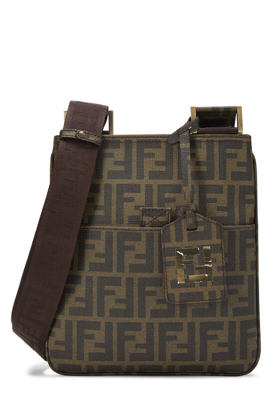 Brown Zucca Coated Canvas Messenger, , large image number 0
