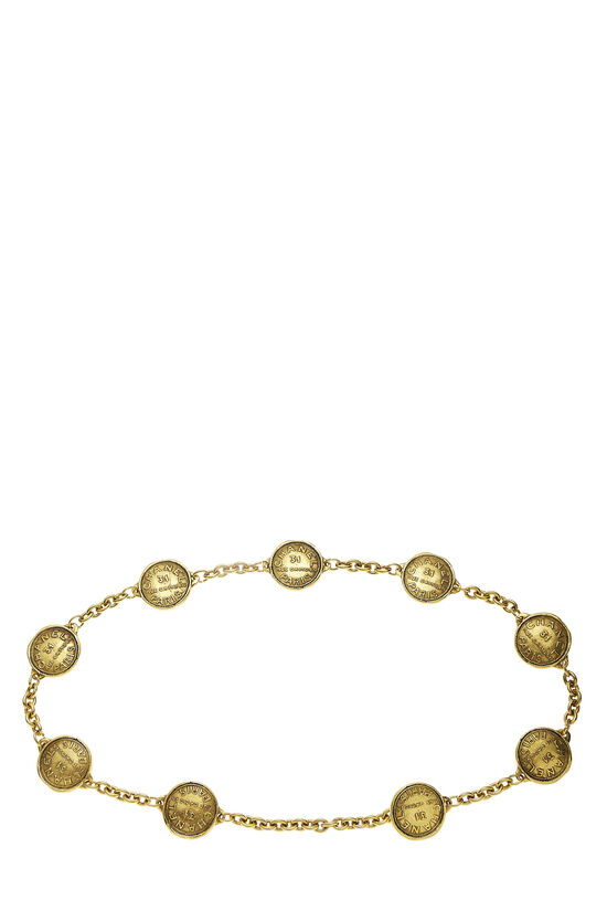 Gold Rue Cambon Chain Belt, , large image number 0