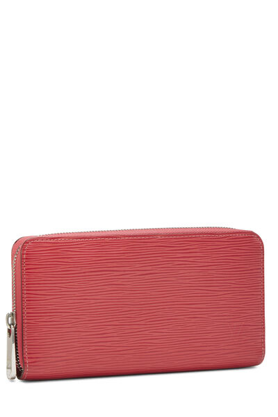 Coquelicot Epi Zippy Continental Wallet, , large