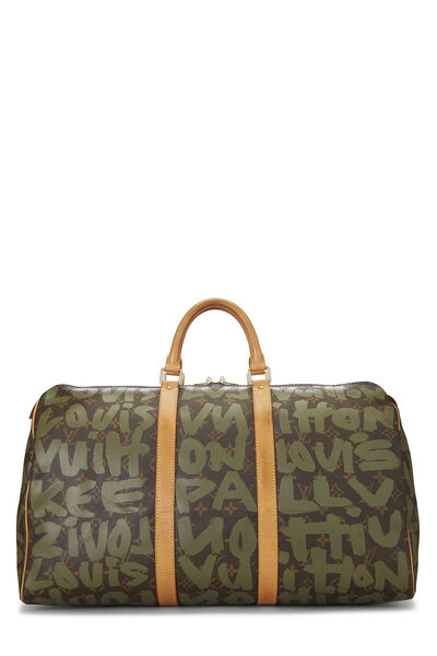 Stephen Sprouse x Louis Vuitton Green Monogram Graffiti Keepall 50