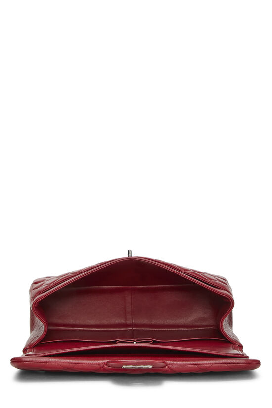 Red Quilted Caviar New Classic Flap Jumbo, , large image number 5