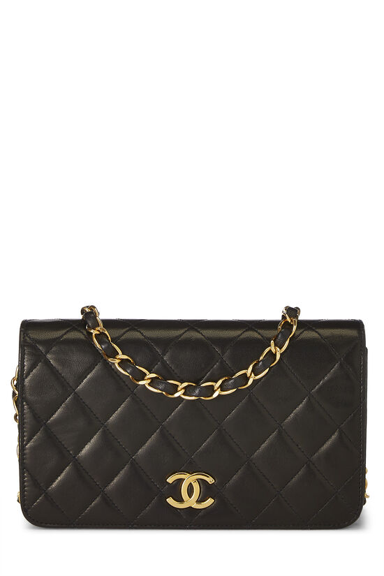 Black Quilted Lambskin Full Flap Mini, , large image number 0