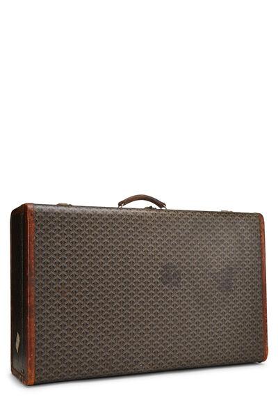 Black Goyardine Coated Canvas Suitcase, , large