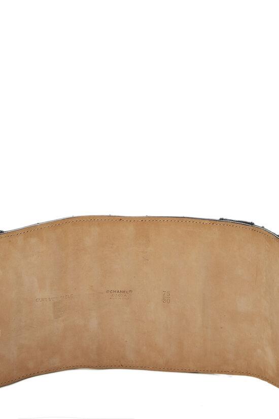 Black Lambskin Chocolate Bar Belt 75, , large image number 4