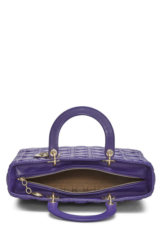 Purple Cannage Quilted Lambskin Lady Dior Large, , large image number 6