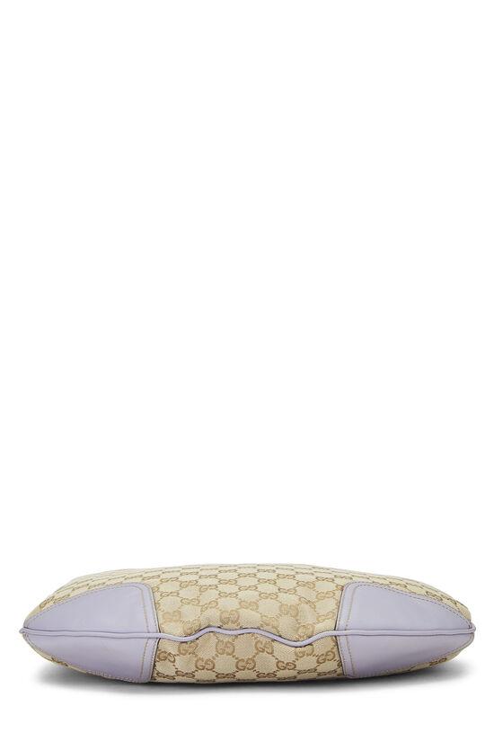 Lavender GG Canvas Princy Hobo Large, , large image number 4