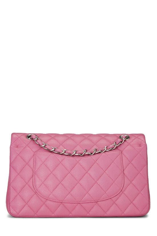 Pink Quilted Caviar Classic Double Flap Medium, , large image number 3