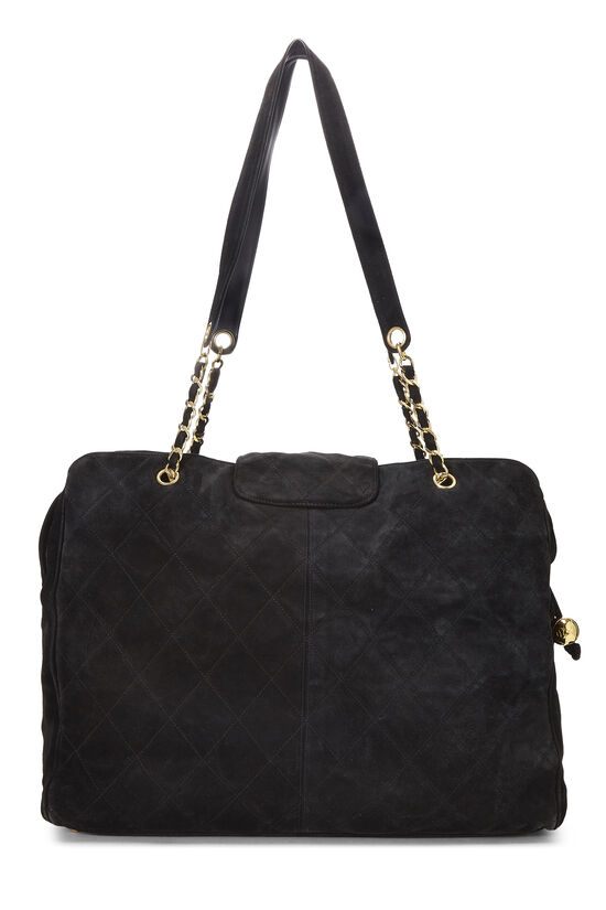 Black Quilted Suede Supermodel, , large image number 3