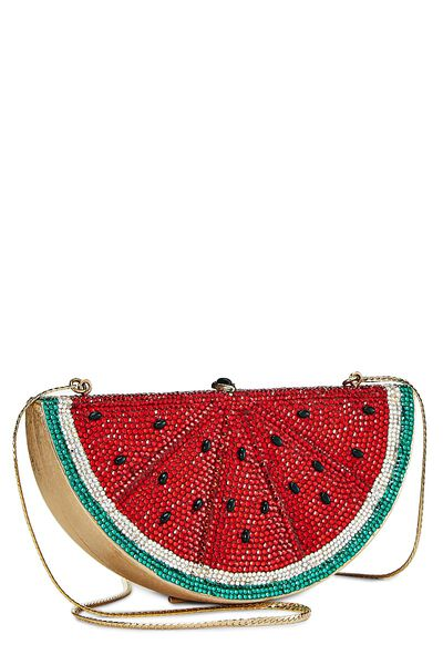 Red Crystal Watermelon Minaudiere, , large