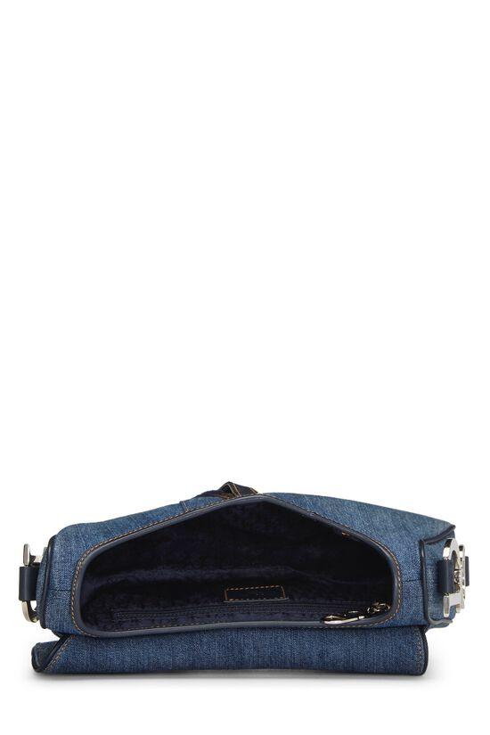 Blue Denim Floral Saddle Bag, , large image number 5