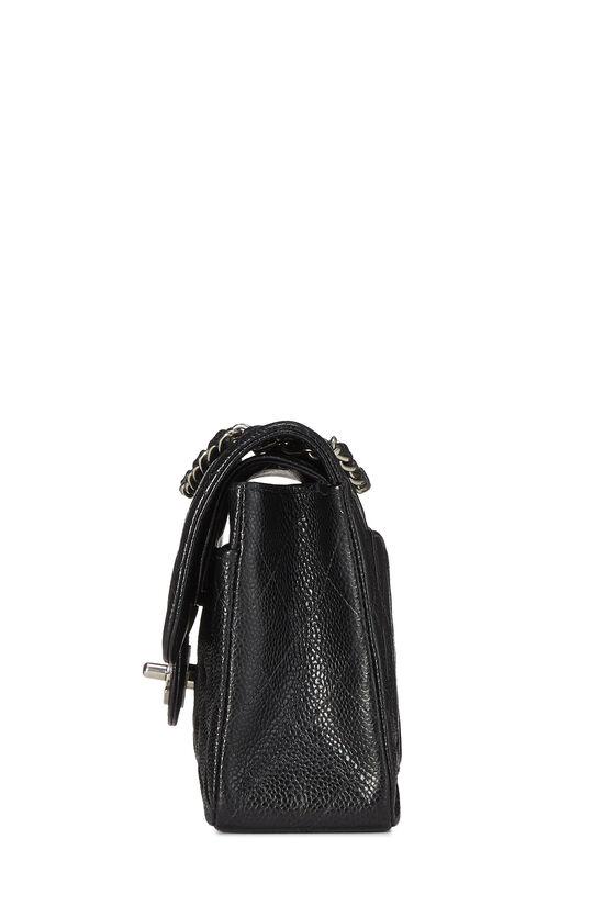 Black Quilted Caviar Classic Double Flap Small, , large image number 2