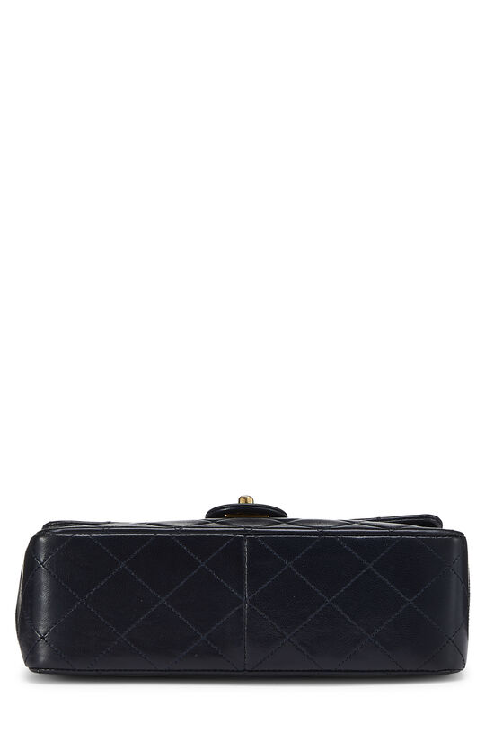Navy Quilted Lambskin Half Flap Small, , large image number 4