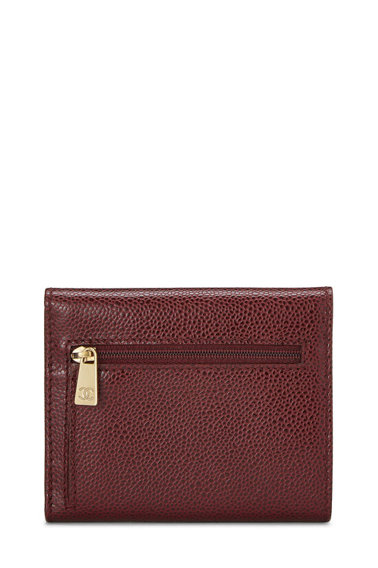 Burgundy Caviar CC Compact Wallet, , large image number 2