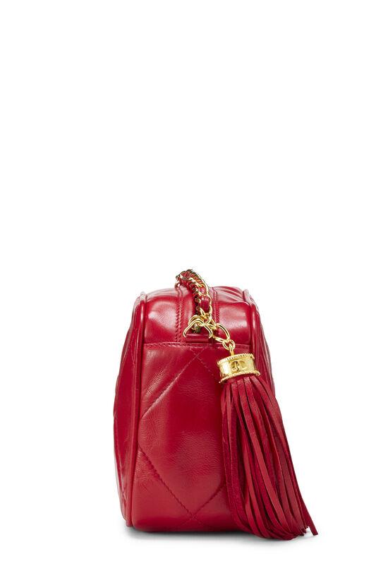 Red Lambskin Diamond 'CC' Camera Bag Mini, , large image number 2