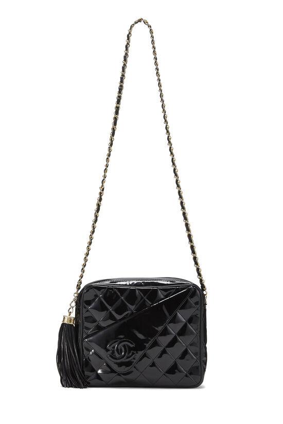 Black Patent Leather Diagonal Camera Bag Small, , large image number 6