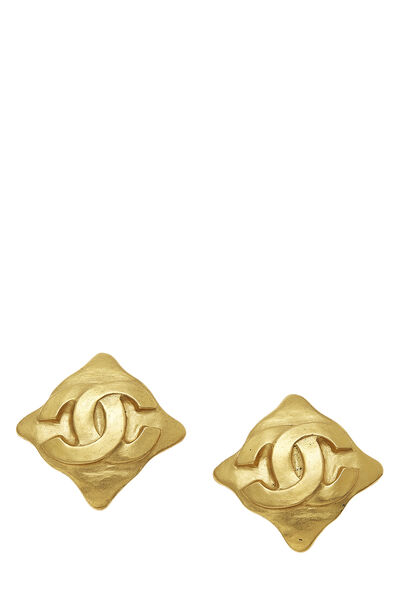 Gold 'CC' Logo Earrings