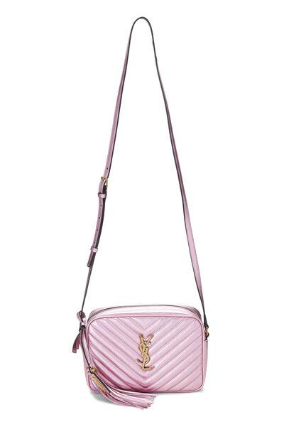 Metallic Pink Quilted Calfskin Lou Camera Bag, , large