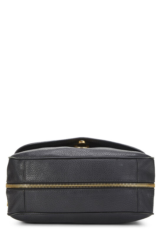 Black Vitello Daino Shoulder Bag, , large image number 4