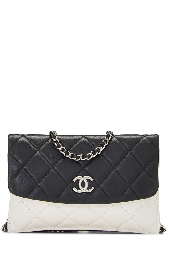 Black & White Quilted Lambskin Double Sided Wallet On Chain (WOC), , large image number 0