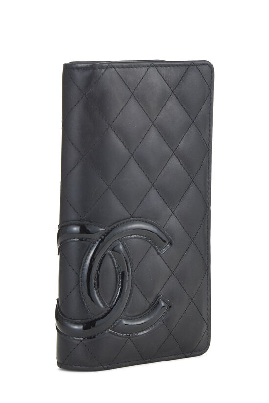 Black Quilted Calfskin Cambon Wallet, , large image number 2