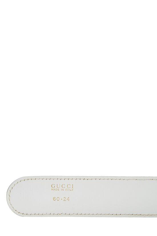 White Leather GG Belt 60, , large image number 3